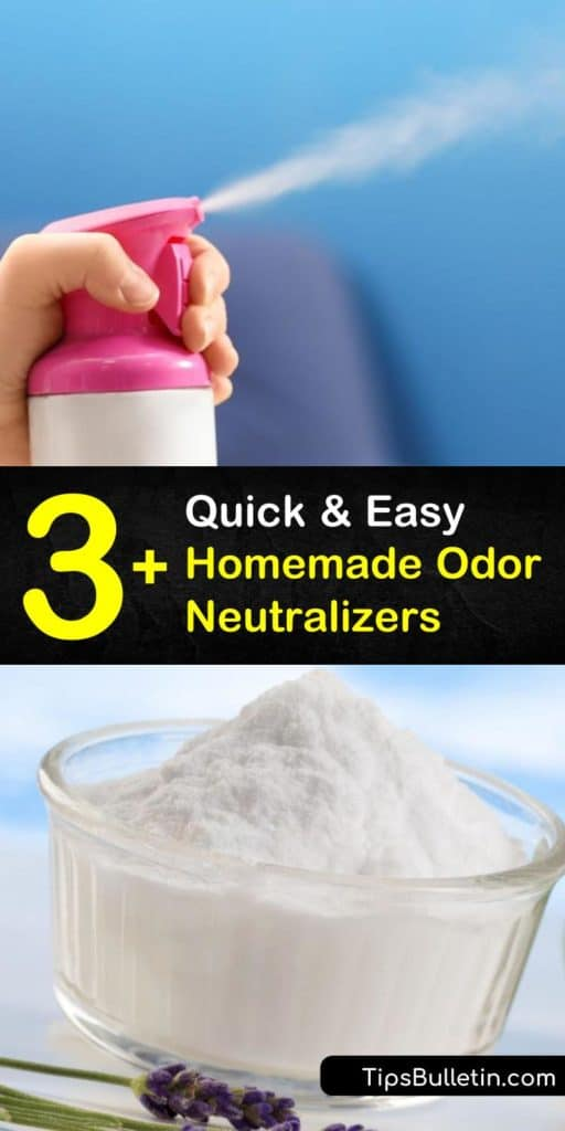 Learn how to make a homemade odor eliminator from natural ingredients like white vinegar or grapefruit essential oil. Our DIY recipes include deodorizing air freshener and pet odor remover. #homemadeodorneutralizer #homemade #odor #neutralizer #smell