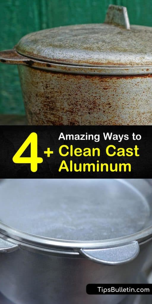 Learn how to clean cast aluminum, whether that's a frying pan or the aluminum parts for your car. Cleaning cast aluminum is easy with hot water mixed with cream of tartar. Wash the aluminum surface of your intake manifold with a wire brush and oven cleaner. #castaluminum #aluminumpan #cleanaluminum
