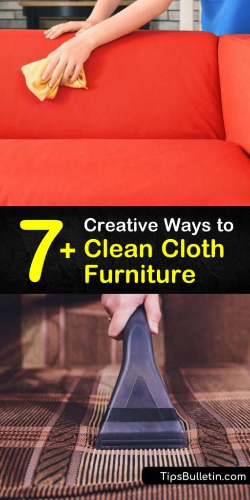 Learn about the cleaning tips professionals use for cleaning upholstery. Making a DIY cleaning solution with warm water and cleaning products makes upholstery cleaning easy and extends the life of your furniture for years. #clean #upholstered #furniture