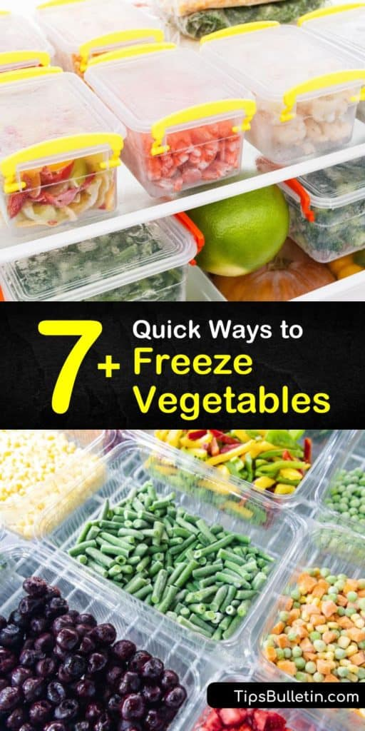 Learn how to properly freeze cauliflower, zucchini, green beans, kale, and many other veggies for the freshest results. Setting a specific blanching time and dunking your veggies in ice water makes all the difference when freezing vegetables. #freeze #fresh #vegetables #frozen