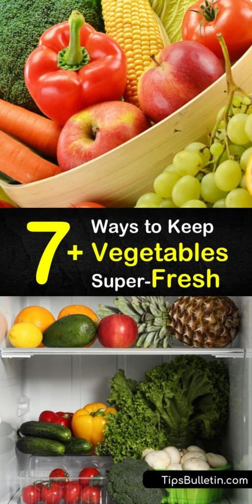 Learn how to store fruits and veggies in a separate crisper drawer to extend shelf life using special tips for avocados, eggplant, and leafy greens. These guidelines help you prevent ethylene gas from ripening your food faster. #keepingveggiesfresh #keep #vegetables #fresh