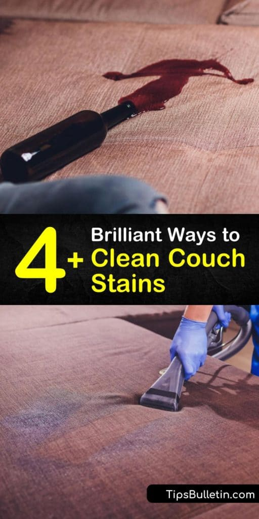 Follow this guide to remove couch fabric stains using a DIY cleaning solution. All you need is some cool water, clean cloth, white vinegar, and a paper towel. Learn when vacuuming your furniture is necessary for stain removal. #couchcleaning #cleancouch #couchstains