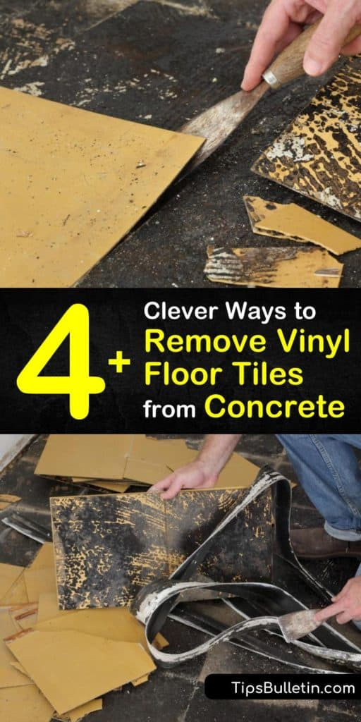 Explore how to remove vinyl floor tiles from concrete using our clever DIY ways, including using a heat gun, putty knife, or utility knife to pull up old vinyl floor tiles from a concrete subfloor. Don't buy a chemical stripper again. #removevinyl #flooring #remove #vinyl #concrete