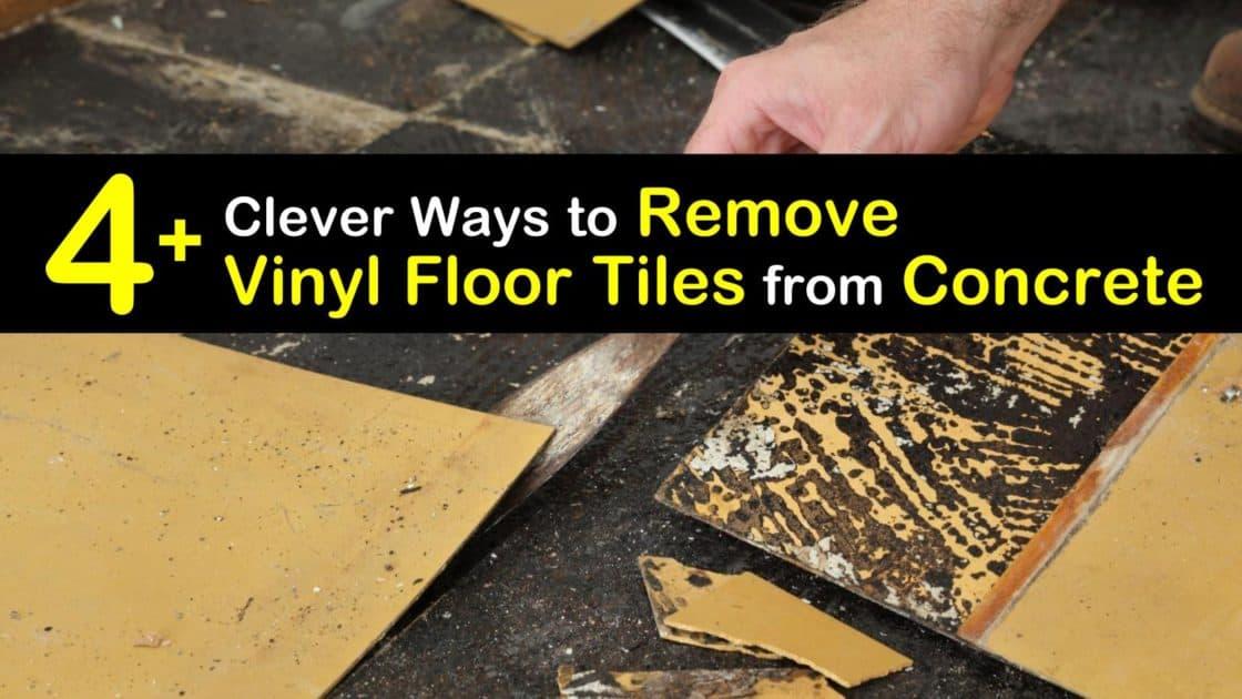To Remove Vinyl Floor Tiles From Concrete, Can You Put Vinyl Tile On Concrete Floor