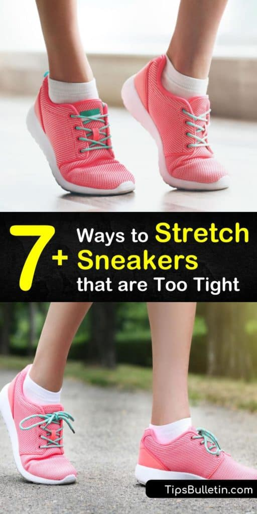 Browse the many ways you can learn how to stretch tight shoes. Grab your hairdryer and thick socks to start stretching your high heels and leather shoes like a cobbler. These stretching techniques will give your bunions and cramped toes the breather they need. #stretch #sneakers #shoes