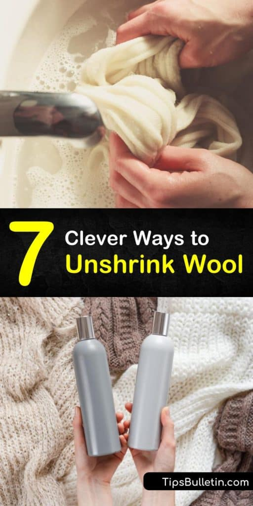 Tips and tricks for unshrinking a wool sweater without using a washing machine. Get cashmere back to the original shape with mixes like baby shampoo and lukewarm water. Obtain the original size without having to wring anything. #unshrinkwool #stretchwool #unshrink #wool