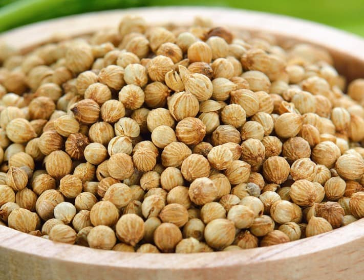 Coriander is a spice that comes from the seeds of the cilantro plant.