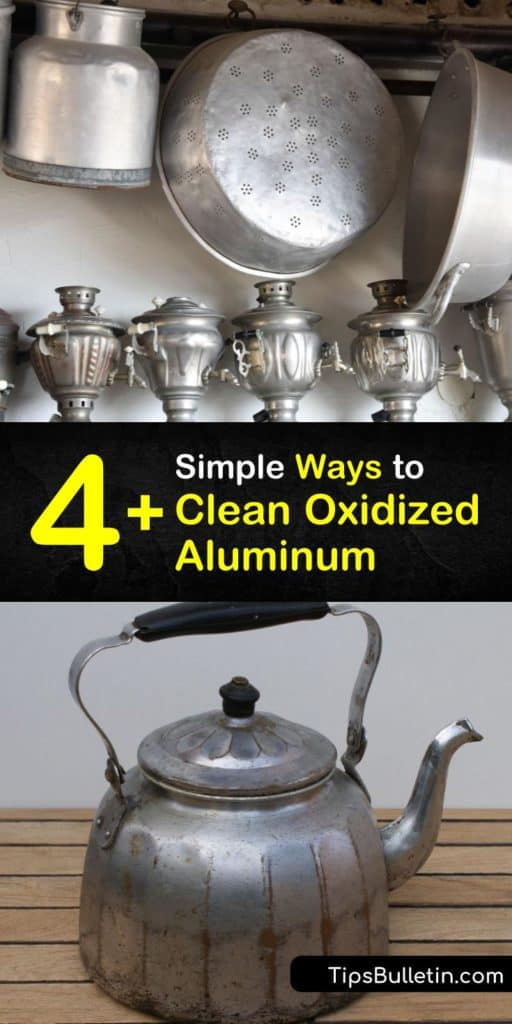 Cleaning aluminum wheels, pots, pans, and any other aluminum surface with oxidation has never been easier. These recipes for aluminum cleaner use a microfiber cloth, clear coat, and elbow grease to remove the chalky powder from anodized aluminum with ease. #clean #oxidized #aluminum