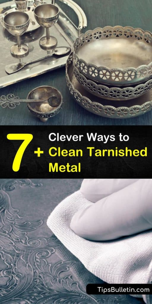 Learn how to remove tarnishing from metal surfaces using ingredients at home. Clean silver with warm water, aluminum foil, and baking soda, and remove tarnish and grime from metal with toothpaste, lemon juice, and a toothbrush. #cleaningtarnishedmetal #tarnished #metal #cleaner #metaltarnish
