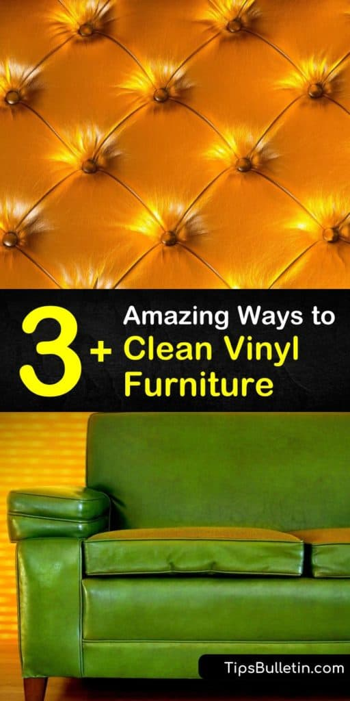 Try these homemade cleaning products to remove grime and mildew from vinyl chairs and outdoor patio furniture. Combine warm water, a clean cloth, and one DIY cleaning solution to prolong the life of all your home's vinyl furniture. #clean #vinyl #furniture