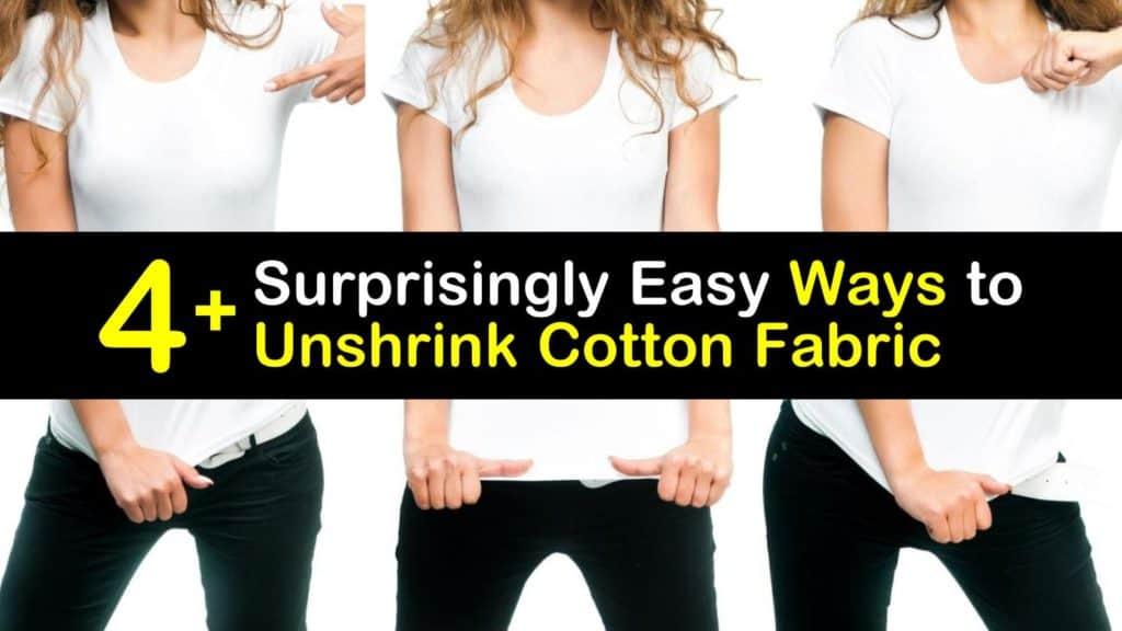 How to Unshrink Cotton titleimg1