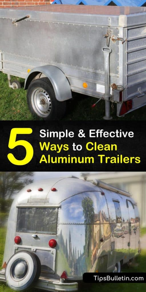 Tackle large objects, like horse trailers and pontoons, with methods like acid washing, homemade brightener recipes, stopping at the truck wash, and a power washer. These DIY aluminum polish tricks making cleaning aluminum easy. #clean #aluminum #trailers