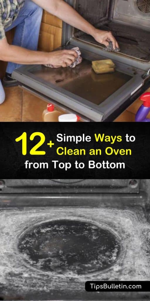 Learn how to clean an oven, even between the glass on the door. Discover when to use the self-cleaning feature and why it isn't always a good idea. We have simple solutions for oven cleaning that make it easier and safer than chemical sprays. #oven #ovencleaner #cleanoven