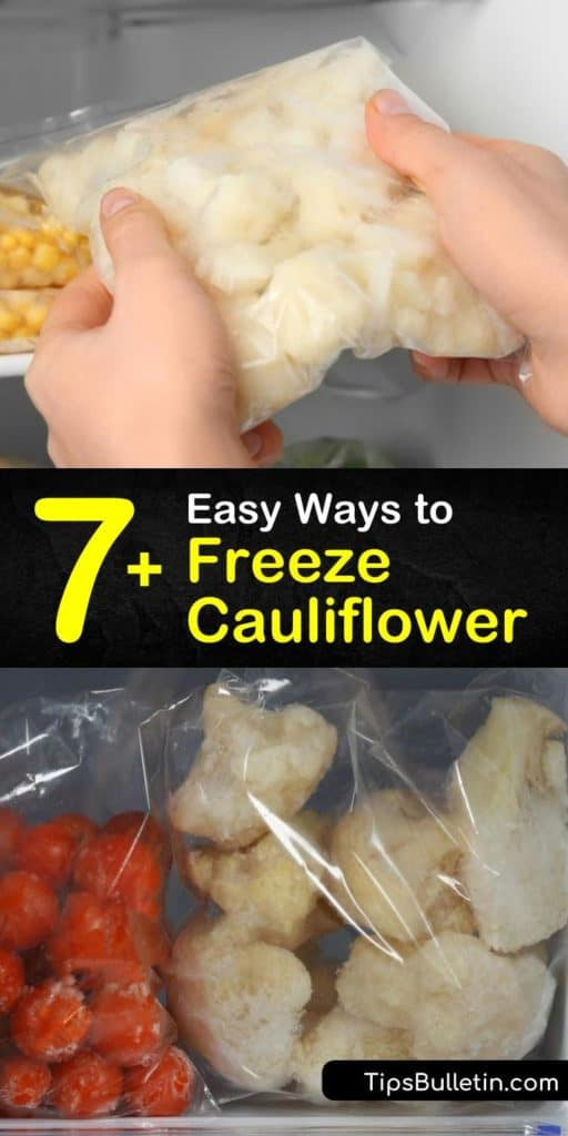 Freezing cauliflower is easy, whether it is cauliflower florets or cauliflower rice. Freeze fresh cauliflower for your favorite side dish without blanching, or blanch it in boiling water and cool it in an ice water bath. #howto #freezecauliflower #freezingcauliflower #freeze #cauliflower
