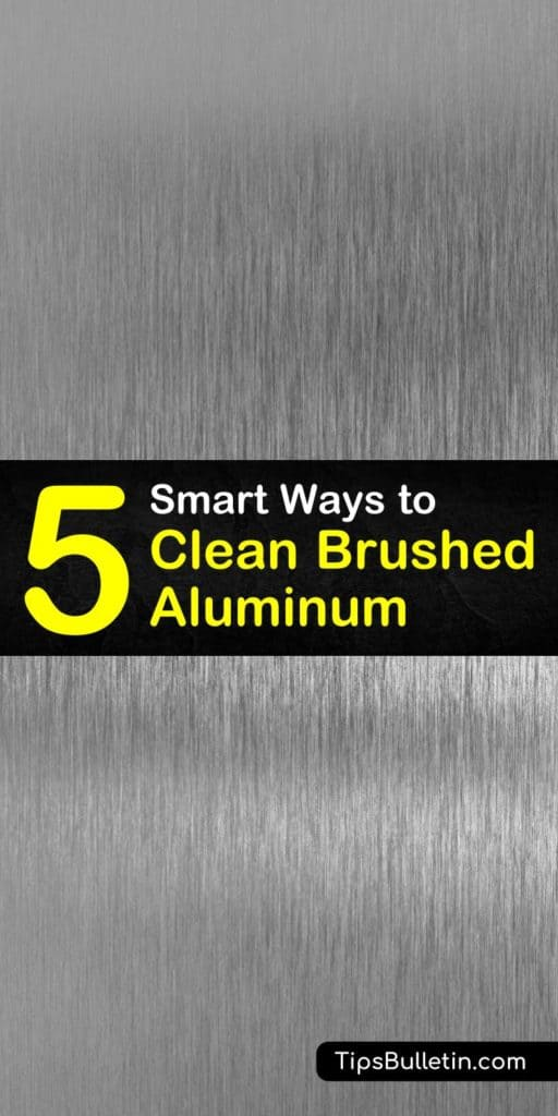 After you remove the grime we can show you how to brighten up your brushed aluminum. See how to use nothing but some hot water, glass cleaner, and a paper towel to clean it before using a clean cloth and metal polish to shine it up. #brushed #aluminum #clean #howto