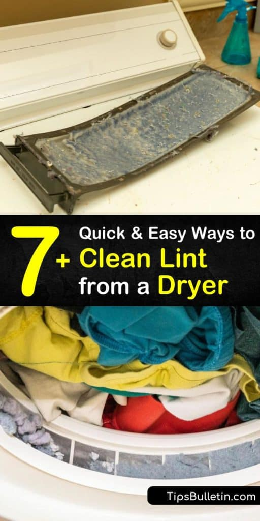 Lint buildup in the clothes dryer is a fire hazard and routine DIY maintenance is necessary for optimal performance. Learn how to use a vacuum cleaner hose attachment to clean the lint filter, exhaust vent, and tube venting. #cleaning #dryerlint #dryer