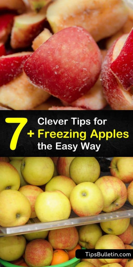 Discover the juiciest tips on freezing fresh apples with only a peeler, baking sheet, lemon juice, and freezer bags. Once you're finished reading, you'll be able to make apple pie filling, cobbler, and more one-of-a-kind apple recipes. #howto #freeze #apples