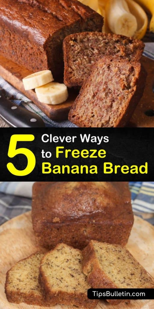 Don't use all your overripe bananas on smoothies. Instead, let us show you how to freeze individual slices of banana bread in a freezer bag, defrost it to room temperature, and experiment with recipes like chocolate chip and peanut butter bread that make taste buds sing. #howto #freeze #bananabread
