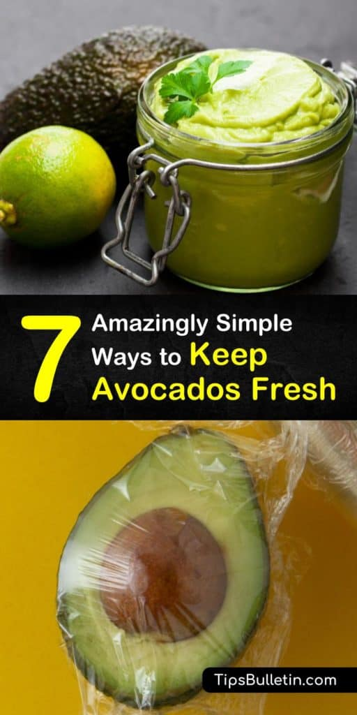 Learn how to store ripe avocados at room temperature and keep them from turning brown. Store avocados in the freezer for smoothies, and refrigerate cut avocados in an airtight container or plastic wrap. #avocado #storage #fresh #howto