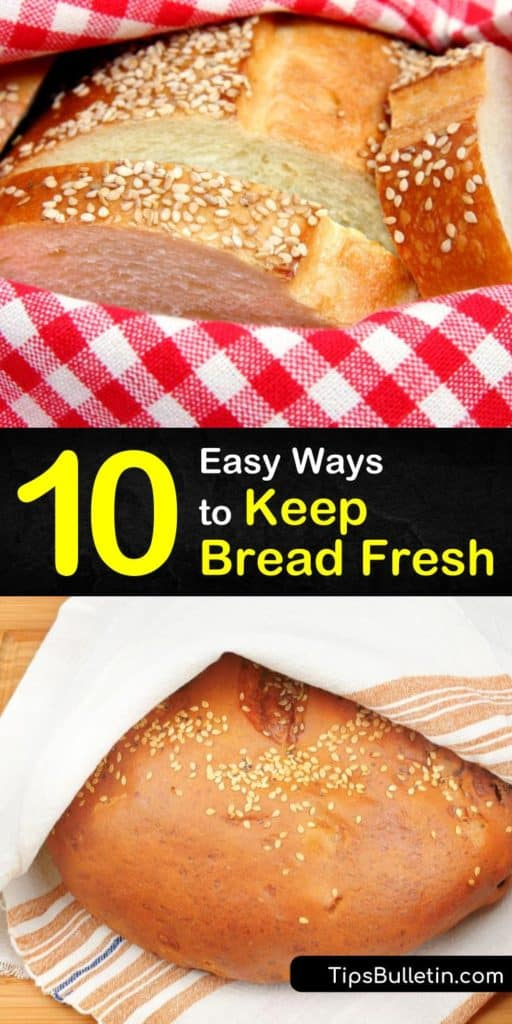 Bake your favorite loaf of bread and learn how to store bread with only plastic wrap and a plastic bag. Homemade bread, like sourdough, is free from preservatives and has tons of storage options. Let us show you how to prevent fresh bread from turning to stale bread. #howto #keep #bread #fresh