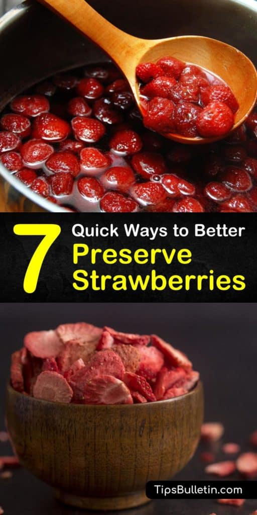 Master all the berries with this list of ways to handle frozen strawberries, make strawberry jam, and even craft your own wine. Grab your freezer bags and lemon juice to prevent moldy fruits this strawberry season. #howto #preserve #strawberries
