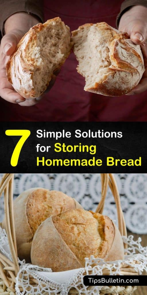Unlike store bread, homemade bread doesn't contain preservatives and doesn't last as long. Learn how to keep bread fresh longer at room temperature, in the fridge or freezer, and use stale bread to make French toast or croutons. #storing #homemade #bread