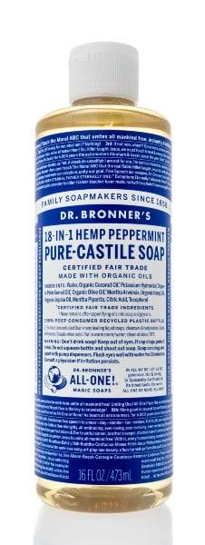 Castile soap is very gentle.