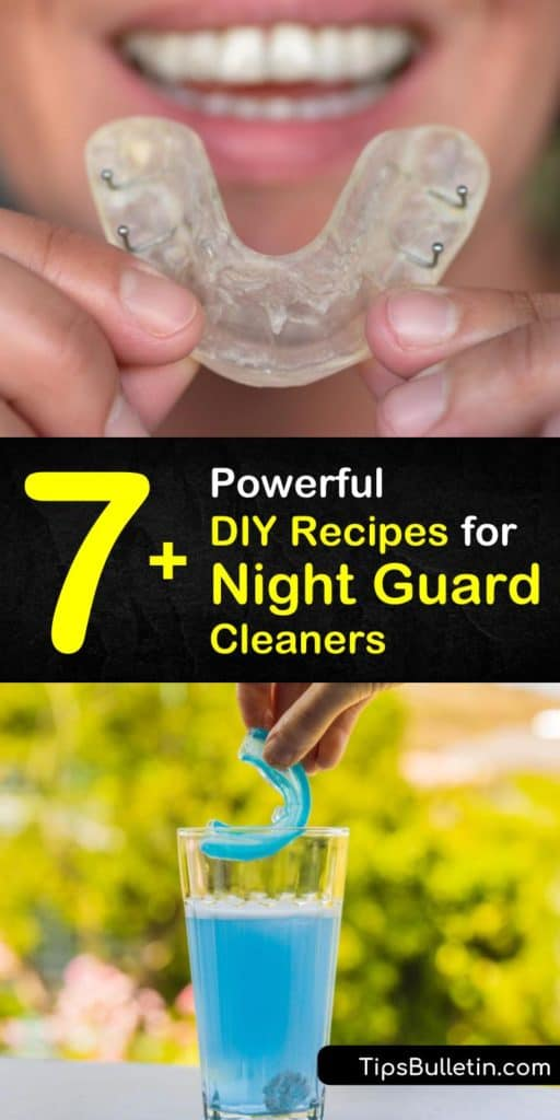 Utilize your common household ingredients like a toothbrush, toothpaste, bleach, and warm water to create some of the easiest night guard, retainer, and denture cleaner recipes that will stop bad breath and kill bacteria that build up over time. #homemade #nightguard #cleaner