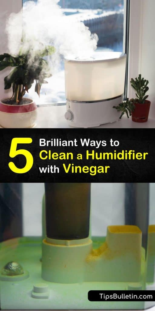 Read our cleaning tips for removing mineral buildup from a humidifier using vinegar. Unplug and disassemble the humidifier, then fill it with a vinegar cleaning solution. After rinsing the device and letting it air dry, disinfect it with bleach or hydrogen peroxide. #humidifier #vinegar #cleaning