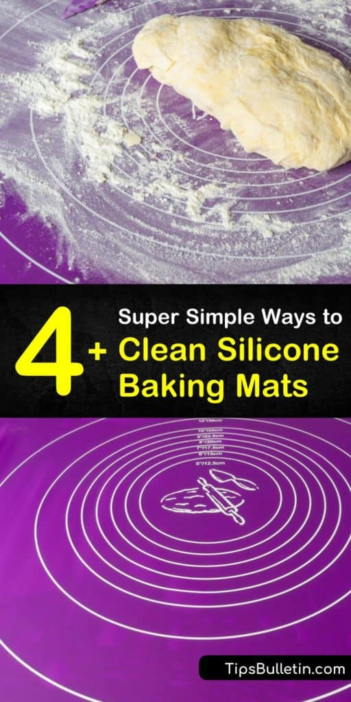 Toss out your parchment paper and use these tips for cleaning non-stick silicone mats and silicone bakeware that extend the life of your baking sheets for years. These simple remedies use only hot water, dish soap, and lemon juice to cut through grease and grime. #clean #silicone #baking #mats