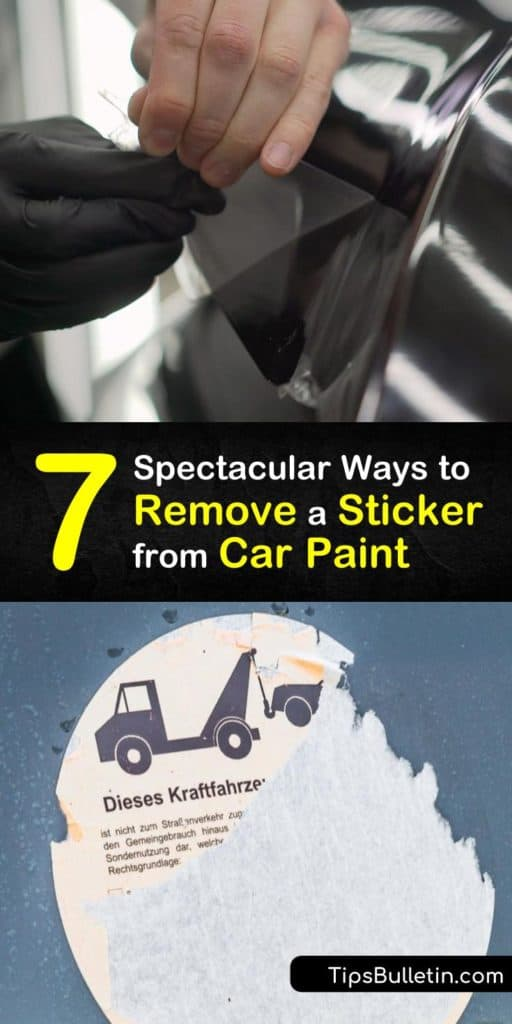 Learn easy ways to remove a bumper sticker and decals off your car's paint with a few simple steps. Use a heat gun or hair dryer, soapy water or Goo Gone, and a plastic card or spatula to clean away stickers and residue. #removingcarstickers #howto #remove #stickers #carpaint