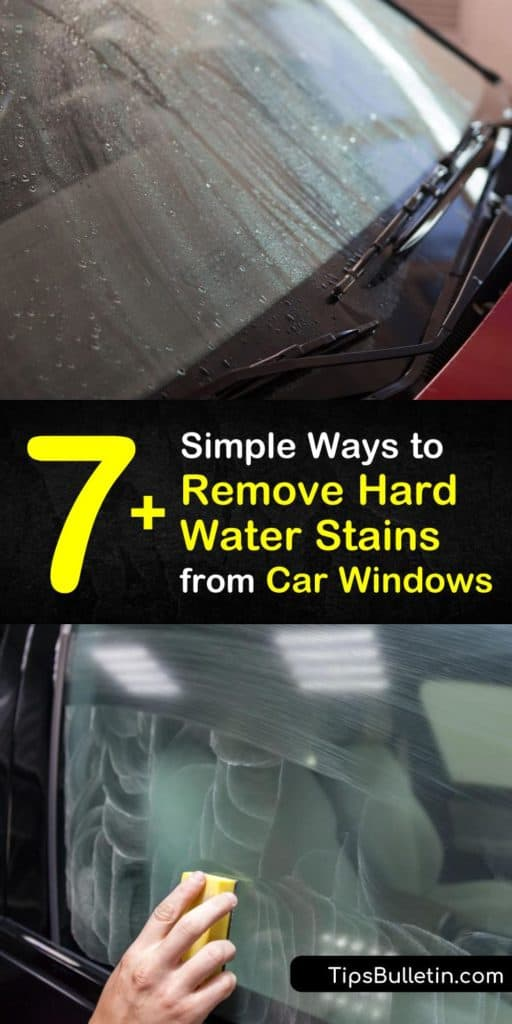 Did sprinklers leave limescale on your car's windows? Check out these tips on how to remove hard water stains from car windows using readily available cleaning products at home. #hardwater #stains #car #windows #remove