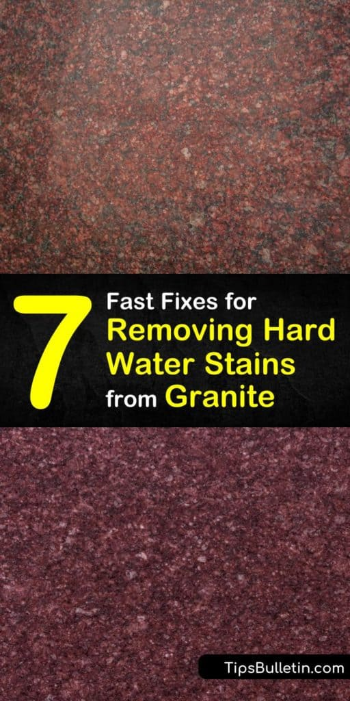 Discover how to keep your granite free of hard water stains. Remove mineral deposits with a granite cleaner using hydrogen peroxide and other gentle cleaning products, and avoid using bleach. #removing #granite #hardwater #stains