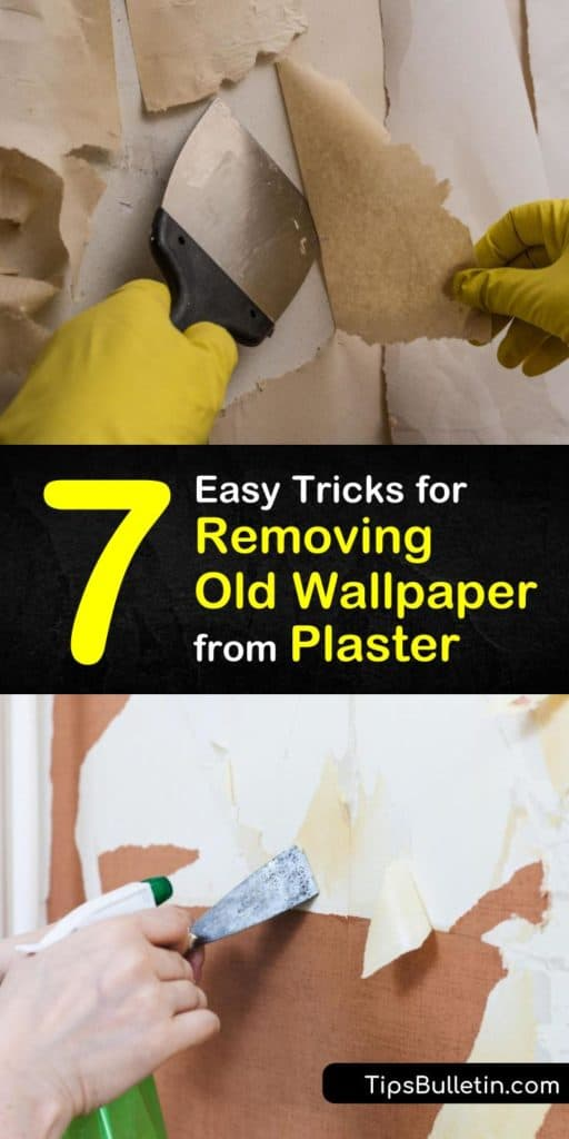 Discover how to make the wallpaper removal process easier with the right tools. Remove old wallpaper from plaster with hot water, a spray bottle, a scoring tool, and a scraper, and slowly peel the old paper onto a drop cloth. #removing #old #wallpaper #plaster #howto
