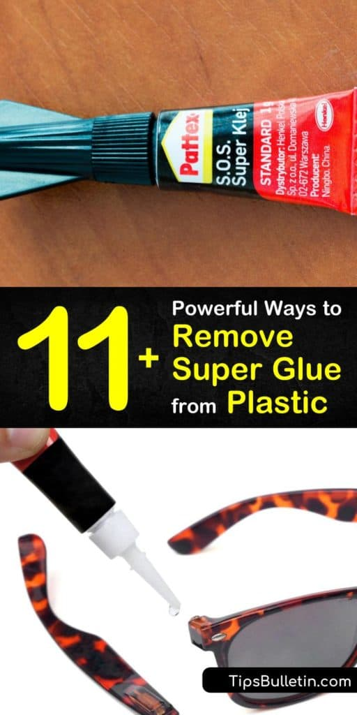 Correct any mistakes you've made from super glue with these homemade glue remover recipes and powerfully target the affected area. Use acetone, warm water, and a clean cloth or soft cloth to target a plastic countertop or surface and make it like new again. #howto #remove #superglue #plastic