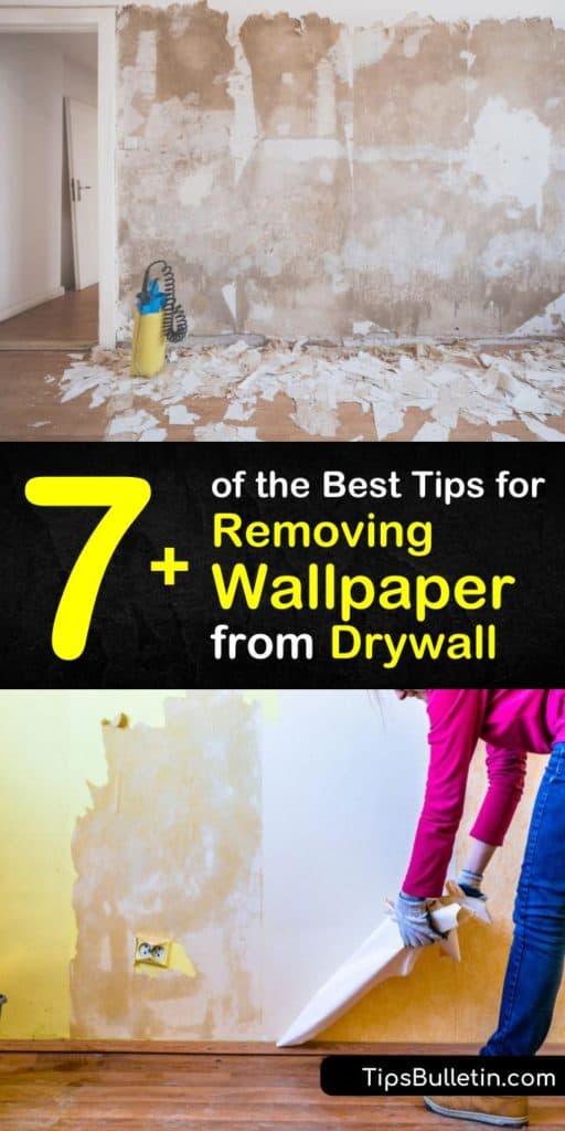 Discover our top tips for DIY wallpaper removal from drywall so you can replace ugly old wallpaper with a fresh design. Start by preparing the room, including laying a drop cloth, then use tools like a paint scraper and a spray bottle with wallpaper stripper. #wallpaper #drywall #remove