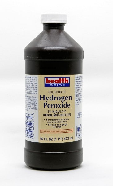 Peroxide is a great antiseptic.
