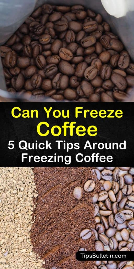 Learn about freezing coffee and how to store whole beans in the freezer. If you want to have the best cup of coffee after stored in the freezer, grab an airtight canister and be sure to read how to store coffee properly. #freeze #coffee #storage