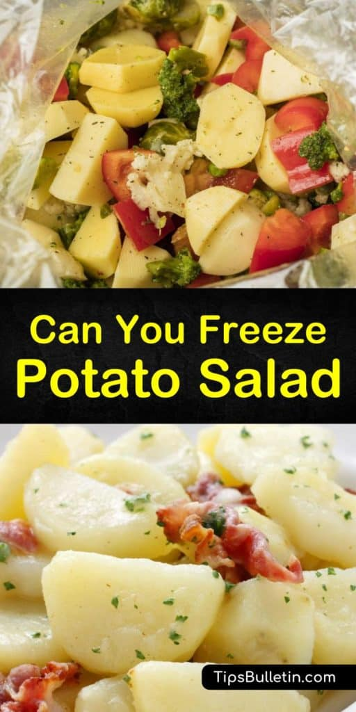 Learn how to freeze leftover potato salad to prevent bacterial growth. Potato salad and German potato salad are great for freezing in plastic bags, and frozen potato salad has a shelf life of up to three months. #freezing #potato #salad #howto