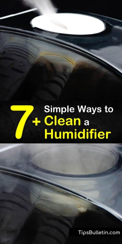 Learn how to clean your humidifier water tank using products like hydrogen peroxide, white vinegar, and a bleach solution. These tips can be used to clean different parts of a humidifier. #howto #clean #humidifier