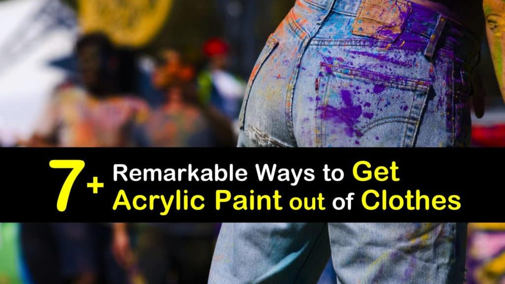 How to Get Acrylic Paint out of Clothes titleimg1