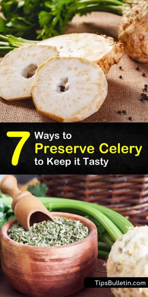 Learn how to store celery to preserve its crispy texture and mild flavor by keeping a bunch of celery in the crisper drawer of the fridge. We'll show you how to keep celery longer by blanching it for the freezer or drying it for soups and stews. #preserve #celery #howto