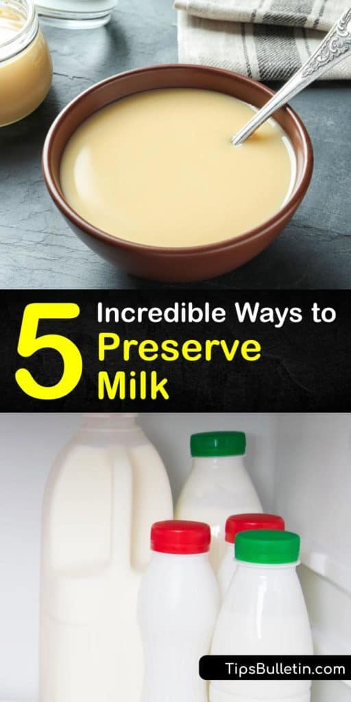 Before heading to the grocery store, try out these ways to extend the life of your milk and dairy products. Most of us prefer refrigeration, but there are ways to preserve raw milk and evaporated milk that keep well when you refrigerate it or store at room temperature. #howto #preserve #milk