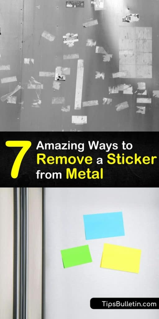 Learn how to get stickers off metal surfaces and remove sticker residue for a clean, shiny surface. Use a hair dryer, rubbing alcohol, soapy water, Goo Gone, and a scraper or razor blade to remove a sticker and sticky residue. #howto #remove #sticker #metal