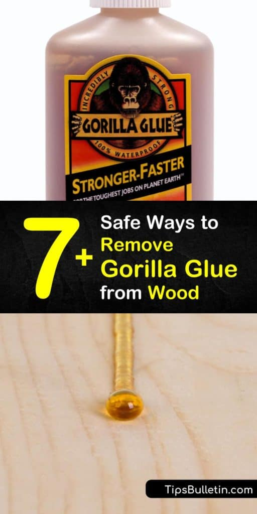 No longer worry about the regret of using too much wood glue with our step-by-step guide full of DIY ways to remove dried glue and excess glue from wood. With sandpaper, paint thinner, and a scraper, you'll easily clean up glue messes from months ago. #remove #gorillaglue #wood