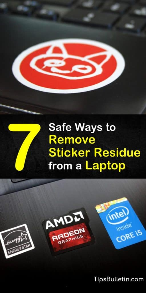 Get rid of sticky residue that lingers on your laptop and other electronics. These DIY solutions use things like a hair dryer, nail polish remover, rubbing alcohol, paper towel, and a credit card to peel off sticker residue and leave your laptop looking brand new. #remove #sticker #residue #laptop