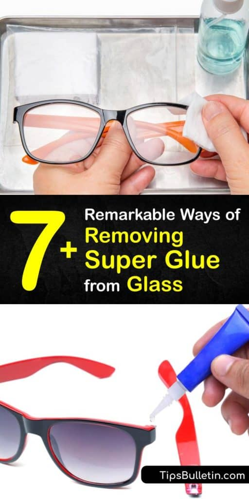 Learn how to get Super Glue off glass surfaces and objects. Dip a soft cloth in warm water, or try warm, soapy water for dried glue. You can also apply acetone to the affected area with a cotton swab. Rubbing alcohol works well for removing glue from a countertop. #superglue #remove #glass #howto