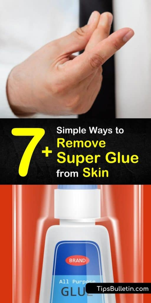 Removing super glue from skin is no easy feat. Here are tricks to try with things around your house like warm water, lemon juice, coconut oil, and a toothbrush. Don't let that super glue stay on your skin. #superglue #removing #skin