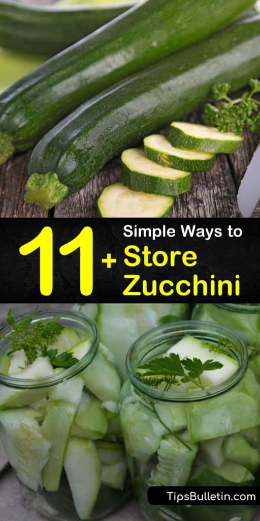 Find out how to store fresh zucchini. Pat zucchini with paper towel before placing it in a plastic bag in the crisper drawer. Learn how to freeze zucchini, from how to blanch it to halt the enzymes that make it go mushy to how to store it in freezer bags. #zucchini #storage #howto