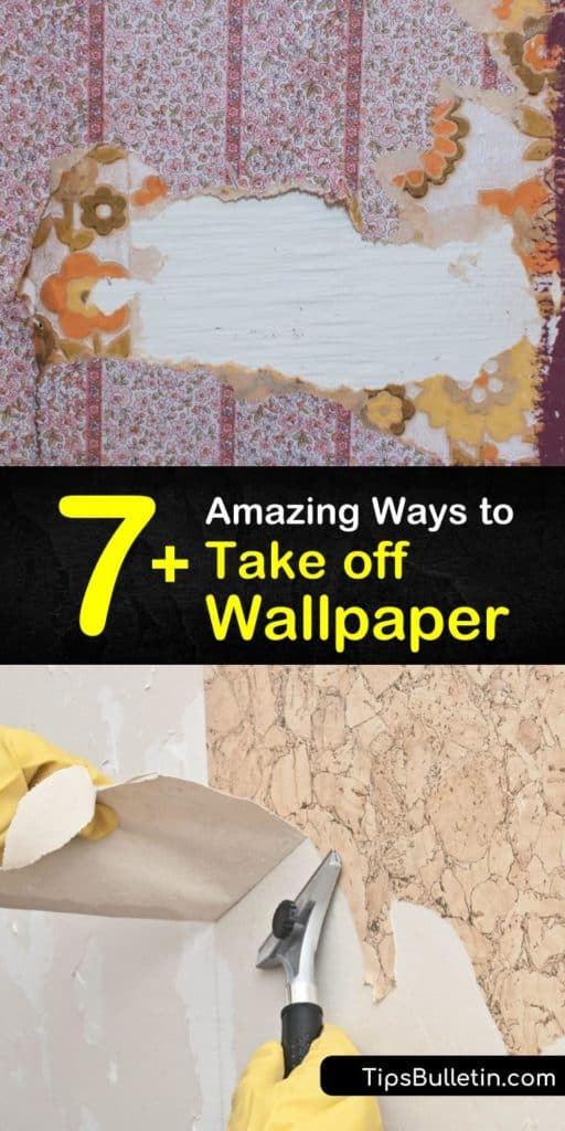 Say goodbye to your old wallpaper for good with some of the easiest wallpaper removal sprays. Using only hot water, fabric softener, a scraper or putty knife, and a spray bottle, you'll soon have your walls stripped and ready for a makeover. #howto #remove #wallpaper